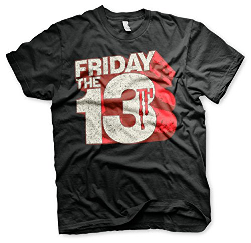 [Friday The 13th T Shirt Block Logo new Official Mens Black] (Jason Vorhees Masks)