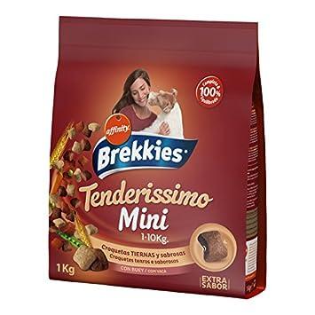 Brekkies Pienso Tenderissimo para Perros Mini con Buey, Verduras y Cereales - 1000 gr: Amazon.es: Productos para mascotas