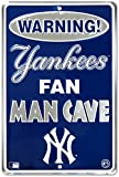 Yankee Fan Man Cave 8 x 12 Metal Sign