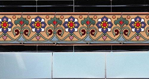 CERAMIC CONCEPTS Gondola Flower A Tile Gondola Flower A 6x6