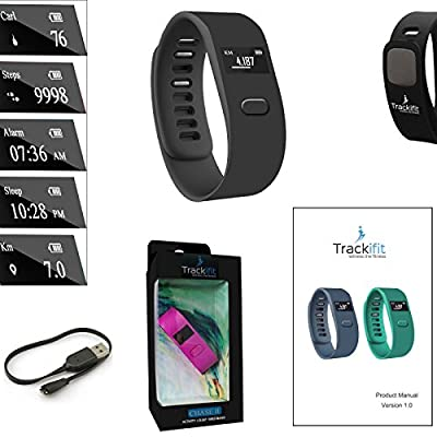 Trackifit CHASE II Wireless Activity Wristband + Sleep Tracking Compatible with Android 4.3 or higher