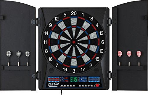 Fat Cat Electronx Electronic Soft Tip Dartboard with Cabinet by Fat Cat by GLD Products