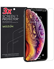 "[3 Pack] MEZON Anti-Glare Matte Screen Protector Film for Apple iPhone 11 Pro/iPhone Xs (5.8"") – Case Friendly, Shock Absorption (iPhone 11 Pro, Matte)"