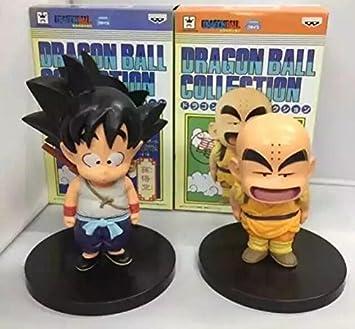 14-16cm 2pcs/set Dragon Ball Z Goku Kuririn Action Figure PVC Collection Model