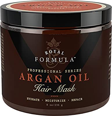 Argan Oil Hair Mask, 100% ORGANIC Argan & Almond Oils - Deep Conditioner Hair Treatment Therapy, Repair Dry, Damaged, Color Treated & Bleached Hair - Hydrates & Stimulates Hair Growth.