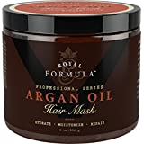 Argan Oil Hair Mask, 100% ORGANIC Argan & Almond Oils - Deep Conditioner Hair Treatment Therapy, Repair Dry, Damaged, Color Treated & Bleached Hair - Hydrates & Stimulates Hair Growth, 8 Oz