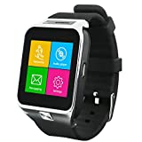 Indigi SWAP2 (Smart Watch And Phone) Bluetooth GSM Unlocked Watch Cell Phone for All Android Phone & iPhone (Silver)