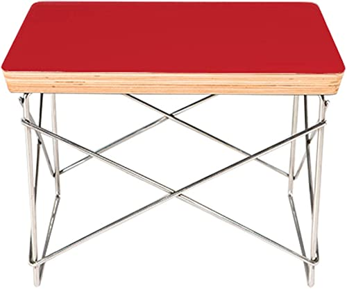 Emorden Furniture Wire Base Low Table. Laminated Plywood Smooth Top