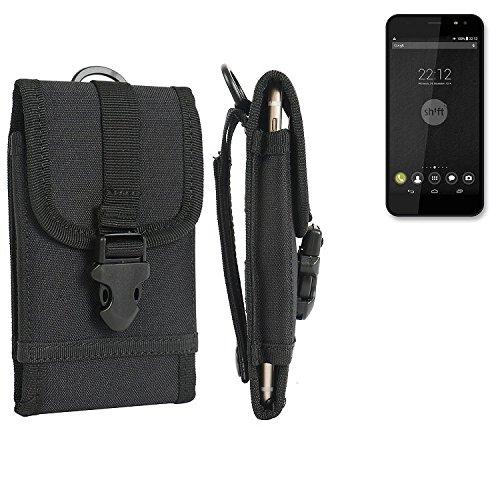 bolsa del cinturón / funda para Shift Shift5, negro | caja del teléfono cubierta protectora bolso - K-S-Trade (TM)