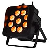 MFL Wireless Battery Operated 9 X12w LED PAR Light RGBAW+UV 6in1 DMX 512 Stage Lighting for Show Concert DJ Party