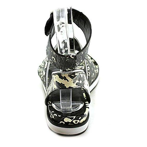 Victoire M Sandals Flat white Ankle Sabina 6 Pour silver Black La US Strap Pxgq5SSw