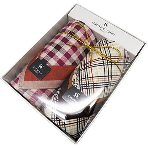 Leevo Handkerchief Men Assorted Woven Cotton 100% Hankies Fashion 4pack Bulk Value Pack (17.5inch 2pack gift box (Check Value Pack)