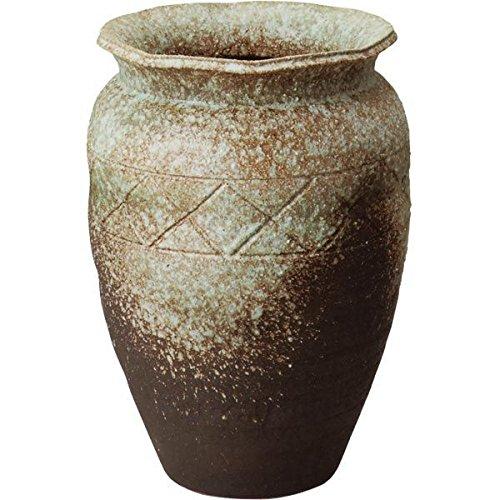 信楽焼 しがらき物語 古窯変織部流し壺型花瓶18号(全高57.5cm×全幅40.5cm) B075MWF876