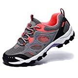 Camel Women Hiking Shoes Lightweight Non-Slip Mesh Boots Trail Running Sneaker 8US 39 Grey/Pink
