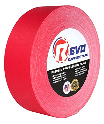 """UPC 760853935781, REVO Premium Professional Gaffers Tape (2"""" x 60 yds) MADE IN USA (RED GAFFERS) Camera Tape- Stage Tape- Better than Duct Tape (Black, Blue, Brown, Gray, Green, Red, White, Yellow) SINGLE ROLL"""
