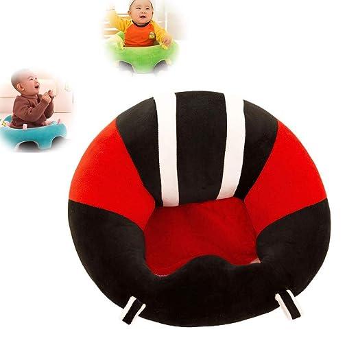 JUMOWA Almohada de Asiento para bebé, sofá de Felpa para bebé para Aprender a Sentarse, Rojo, 40 x 40 cm