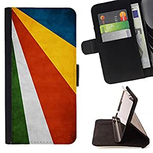 Momo Phone Case / Flip Funda de Cuero Case Cover - Nacional bandera de la nación País Seychelles; - Sony Xperia Style T3