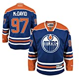 Connor McDavid Edmonton Oilers #97 NHL Youth Premier Stitched Team Home Jersey (Youth S/M)