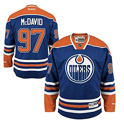 Connor McDavid Edmonton Oilers #97 NHL Youth Premier Stitched Team Home  Jersey (Youth S