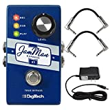 Digitech JMEXTV JamMan Express XT Compact Stereo Super Looper blue Packed with pro level features True Bypass JamSync Pedal Kit with a Pair of guitar pedalboard patch cables and ac power adapter