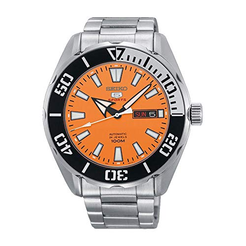 Seiko Mens Analogue Automatic Watch with Stainless Steel Strap SRPC55K1