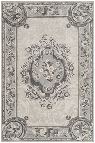 Safavieh Empire Collection EM414D Handmade Traditional European Beige and Light Grey Premium Wool Area Rug (2' x ()