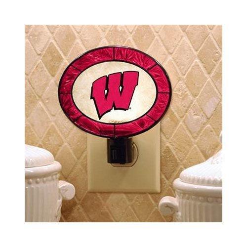 Wisconsin Badgers Lamp (Wisconsin Art Glass Nightlight)