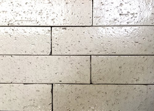 2.5x9.5 Vanilla High Glossy Glazed Extruded Brick Wall Field Tile (BOX OF 10)