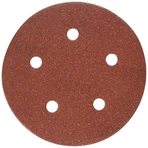 PORTER-CABLE 735501005 5-Inch 100 Grit Five-Hole Hook Loop Sanding Discs 5-Pack