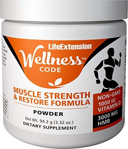 Life Extension Wellness Code Muscle Strength & Restore Formula, 94.2 Grams