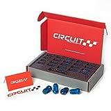 Circuit Performance Star Spline Drive Acorn Tuner Closed Ended Lug Nuts (Thin Small Diameter Tool) Set of 20, 4 Lug & 5 Lug (12x1.25, Blue)