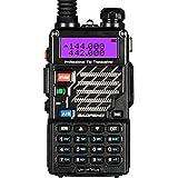 Baofeng UV-5R+ Plus UHF VHF Long Range Dual Band Ham Amateur Two Way Radio, Black