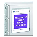 """C-Line CLI83912 Magnetic Shop Ticket Holder - 9"""" x 12"""" Sheet Size - Vinyl - Clear - 15 / Box"""