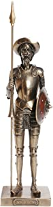 11.63 Inch Don Quixote Standing with Spear Cold Cast Bronze Figurine