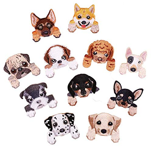 - SOUTHYU 11 Pack Dog Puppy Iron On Patches Embroidered Decorative Appliques DIY Repairing Badge for Clothing Jeans Jacket Bag Backpack Hat T-Shirt Shoes