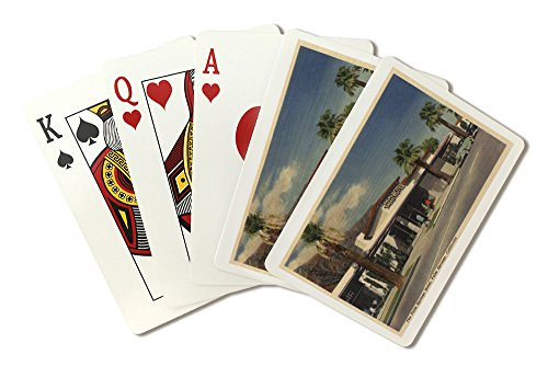 View of the Palm Springs Hotel (Playing Card Deck - 52 Card Poker Size with Jokers)