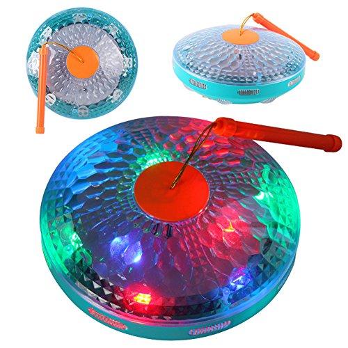 Creative All-Direction Twinkling Musical Handled Lantern Flying Saucer Shape Kids' kindergarten Toy Mid-Autumn Festival Christmas Halloween Gift Decoration KE-21 UFO
