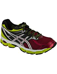 Asics - Mens Running Gel-Cumulus 14 Shoes In Wht/Blk/N Orng