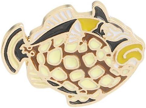Baleine Pourpre kemai oc/éan Poisson Broche Broche Magnifique Broche Broches Dessin anim/é Cheval de mer Dauphin Badge Denim Manteau d/écor