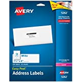 Avery White 1-1/3 x 4 Inch Mailing Labels 350 Count (5262)