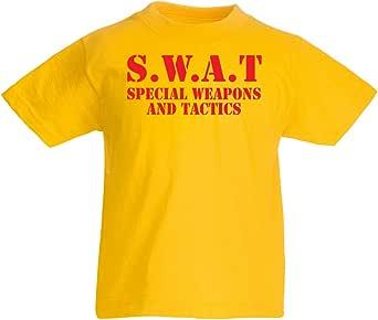 lepni.me Camiseta para Niño/Niña SWAT - Equipo de Armas y Tácticas Especiales de Estados Unidos - Equipo Militar
