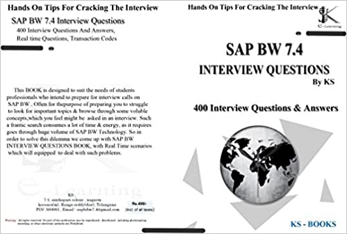 Buy KS 400 SAP BW 7 4 Interview Questions & answers Book