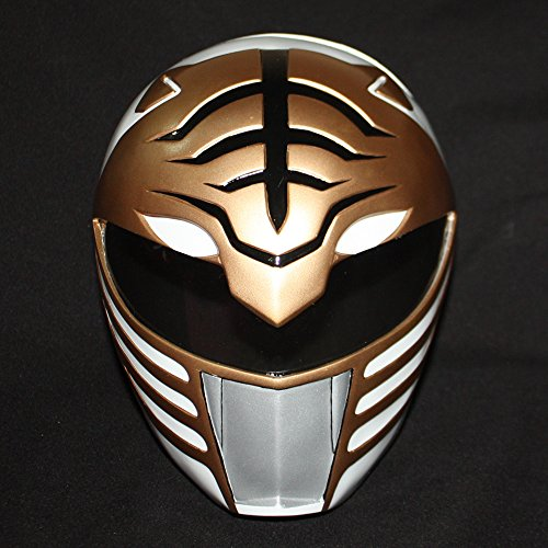 1:1 Halloween Costume Cosplay Mighty Morphin Power Ranger Helmet Mask White PR01 (Power Rangers Helmet)