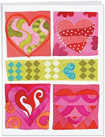 ART HEARTS' Valentine's Day Greeting Card with Envelope (8.5