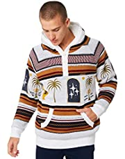 The Critical Slide Society Men's Chatter Knit Mens Hoodie Natural