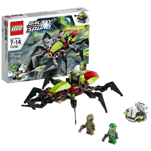 Lego Year 2013 Galaxy Squad Series Set #70706 - CRATER CREEPER with Hovercraft, Chuck Stonebreaker and an Alien Buggoid Minifigures (Pieces: 171)