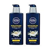 NIVEA Men Maximum Hydration 3 in 1 Nourishing Lotion 16.9 Fluid Ounce - 2 Bottles