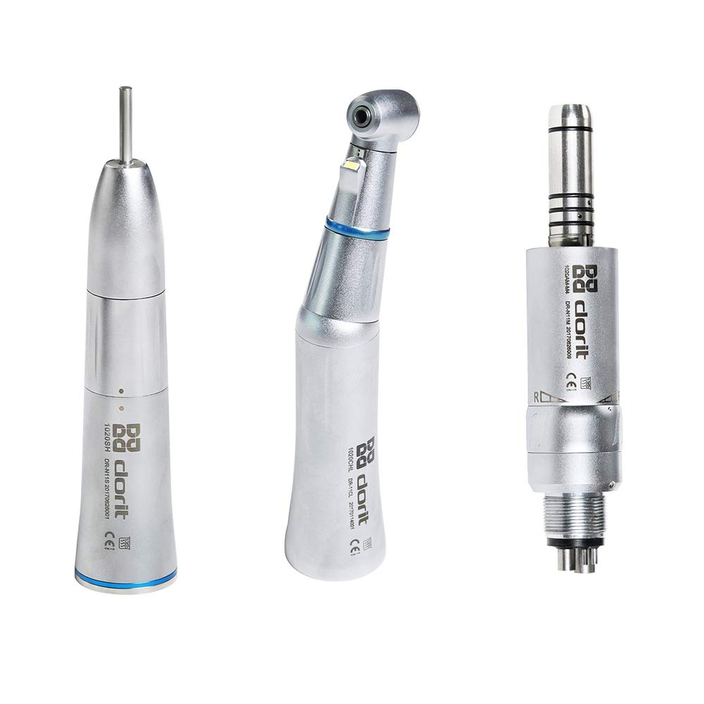 Dorit 1:1 Low Speed LED Contra Angle + Straight Internal Water Handpiece with Air Motor Kit DR-N11L