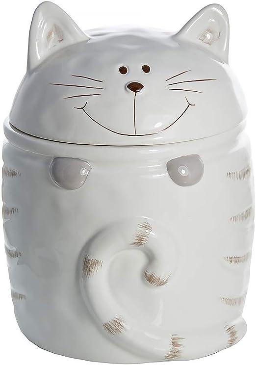 Botes para alimentos cerámica, tarro de ceramica blanco con diseño de gato, de uso general, té, café, azúcar, regalo con gatos, animales temática: Amazon.es: Hogar