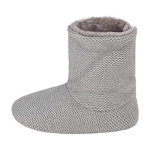 Indoor Grey Sole Pure Top Shoes Slipper Womens for Mens Boots Winter Slipper Bootie Cashmere Booties Unisex Slip Warm Lined Fur Ankle Hi Thermal Anti RgxwOtZf